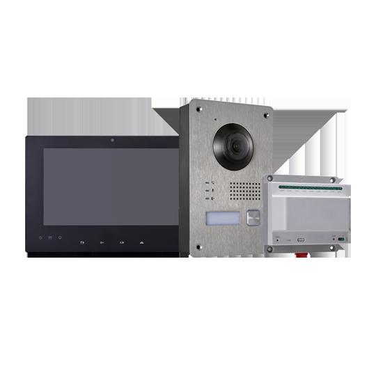 Kit videoportero de 2 Hilos e IP de Hikvision con monitor 7